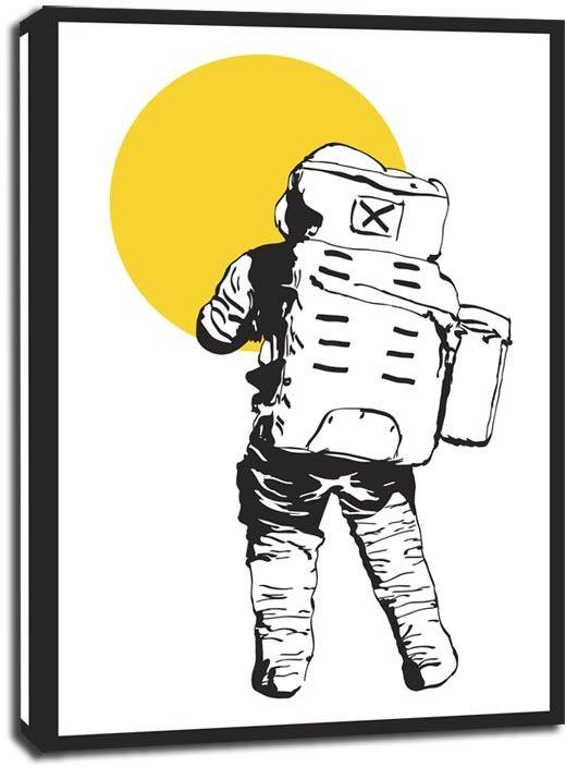 Kosmos (żółty) - obraz na płótnie wymiar do wyboru: 30x40 cm