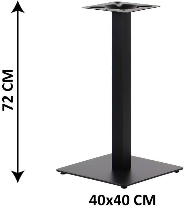 Podstawa stolika SH-5002-1/60/B, 40x40 cm (stelaż stolika), kolor czarny