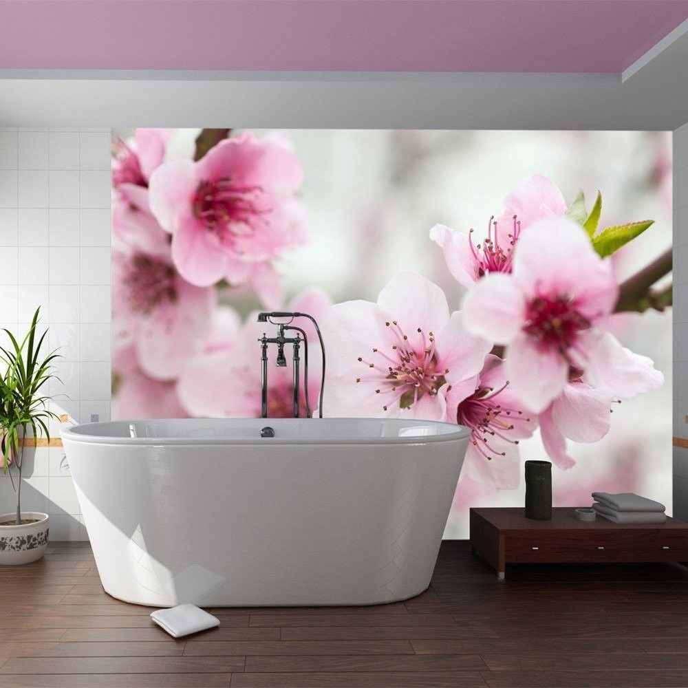Fototapeta - kwitnąca wiśnia - różowe kwiatuszki