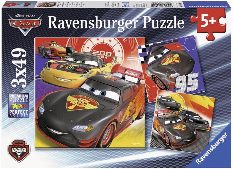 Ravensburger - Auta przygoda na drodze Puzzle 3x49 elem. 080014