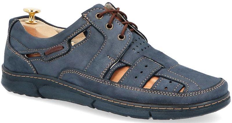 KENT 600 GRANAT NUBUK - Skórzane buty na lato - Granatowy