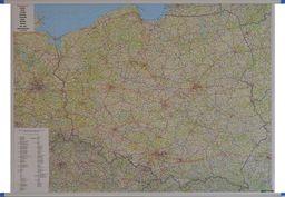 Mapa ścienna Polska samochodowa 1:700 000 ZAKŁADKA DO KSIĄŻEK GRATIS DO KAŻDEGO ZAMÓWIENIA
