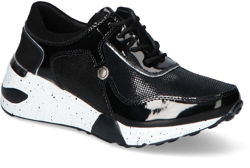 Sneakersy T.Sokolski OCW21-96 Czarne lakier+zamsz