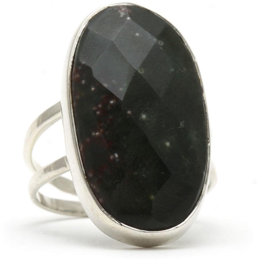 Kuźnia Srebra - Pierścionek srebrny, rozm. 14, Jaspis, 5g, model