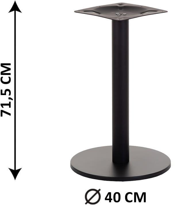 Podstawa stolika SH-2010-1/B, fi 40 cm (stelaż stolika), kolor czarny
