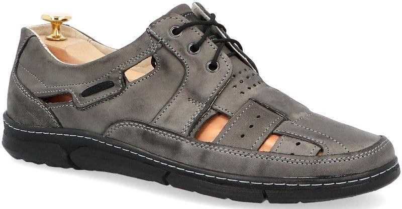 KENT 600 SZARY NUBUK - Skórzane buty na lato - Szary