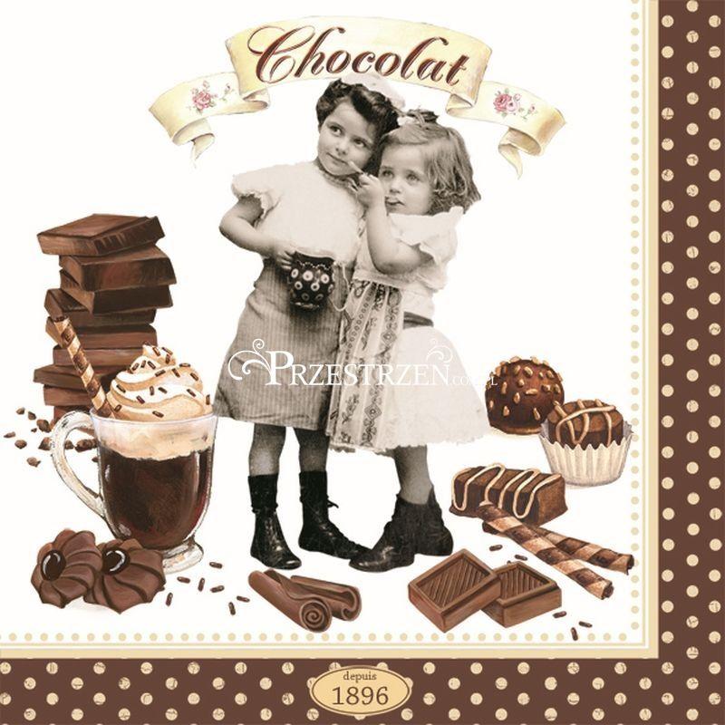 SERWETKI PAPIEROWE - Vintage Chocolate