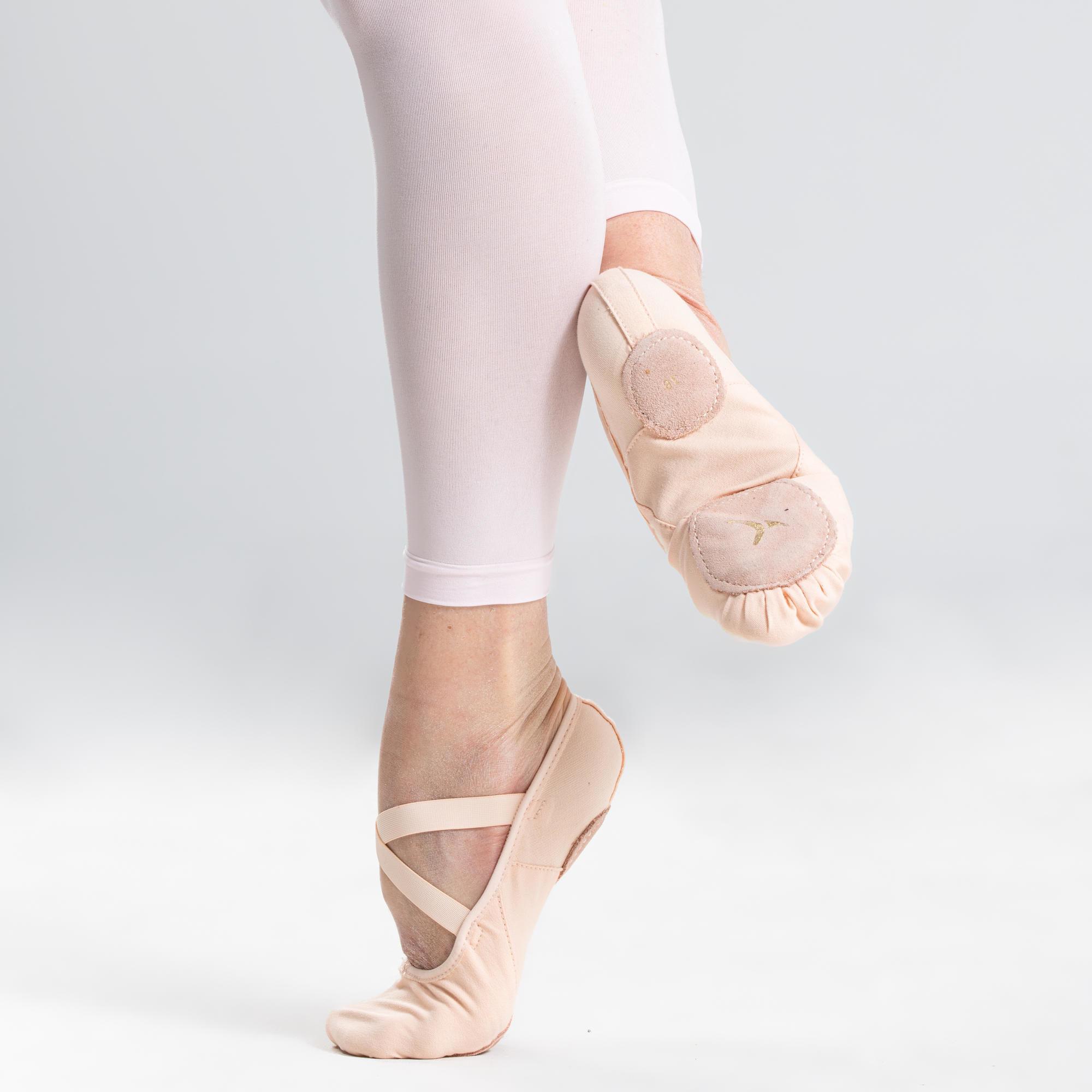 Baletki do tańca klasycznego dwudzielne płócienne rozm. 28-40
