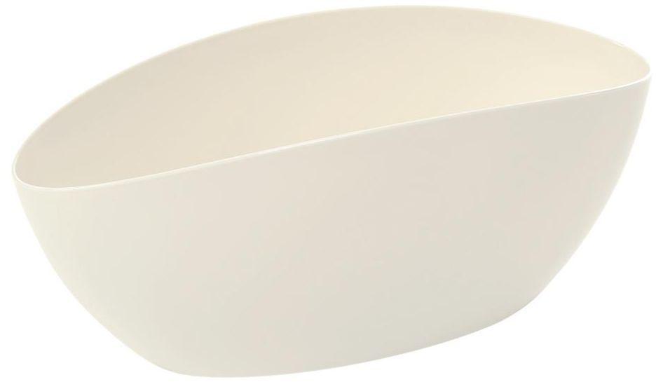 Osłonka na doniczkę 35 cm plastikowa biała LUNA