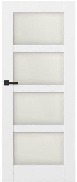 Drzwi bezprzylgowe pokojowe Connemara 70 prawe kredowo-białe