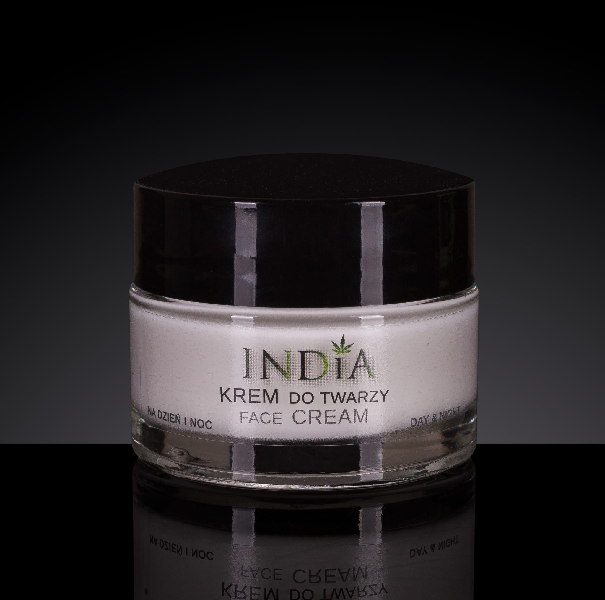 Krem do twarzy z olejem konopnym INDIA 50ml
