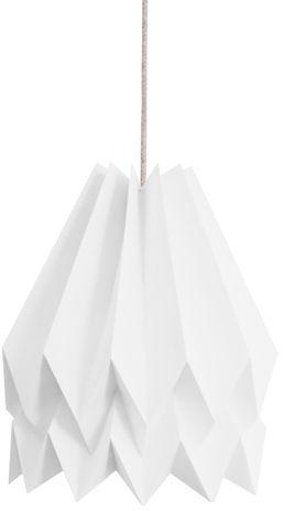 Lampa wisząca Plain Polar White Orikomi biała oprawa w dekoracyjnym stylu