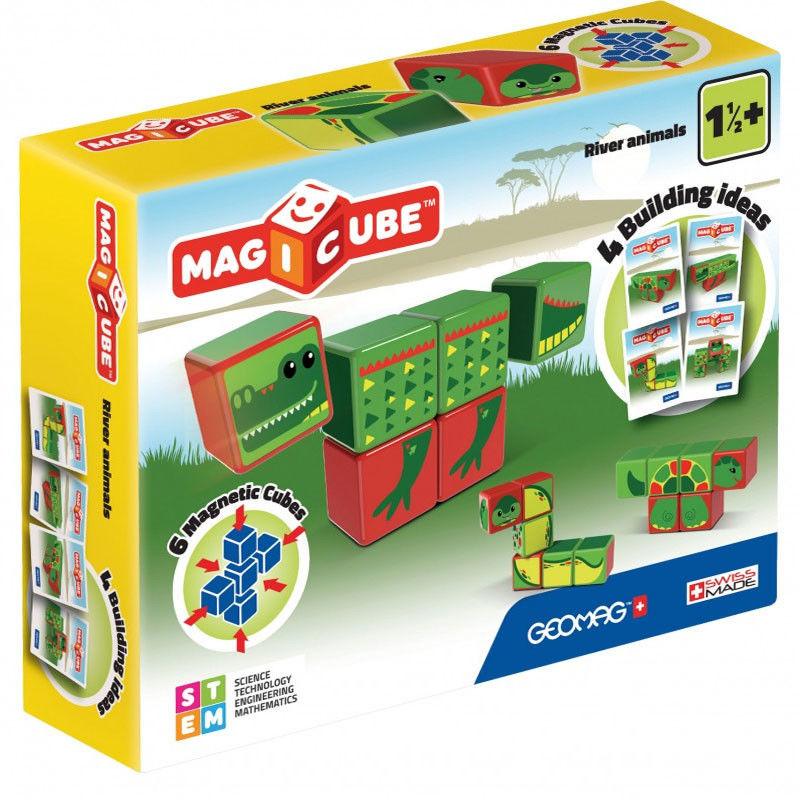 Geomag - Magicube Magiczne kostki Zestaw zwierzęta rzeczna 133