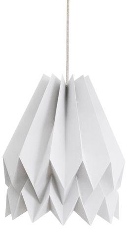 Lampa wisząca Plain Light Grey Orikomi szara oprawa w dekoracyjnym stylu