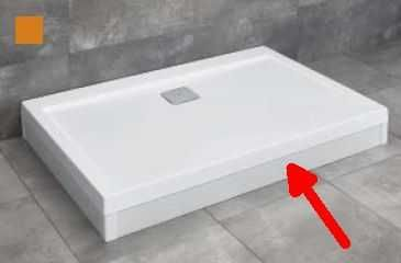 RADAWAY panel biały 140 cm do brodzika Argos D z obudową 001-510134004