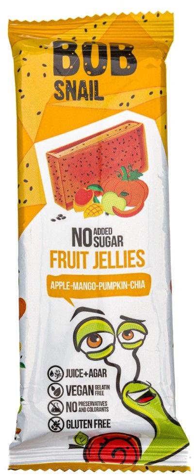 Bob Snail Przekąska galaretka jabłko-mango-dynia-chia bez dodatku cukru - 38 g
