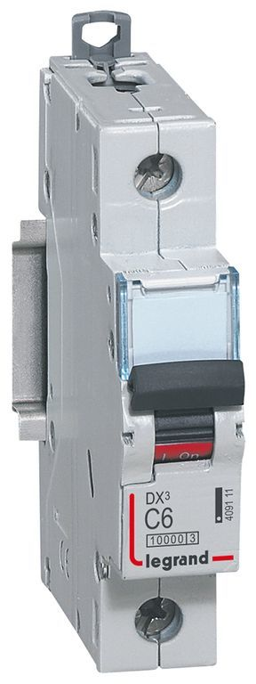 Wyłącznik nadprądowy 1P C 6A 10kA S311 DX3 409111