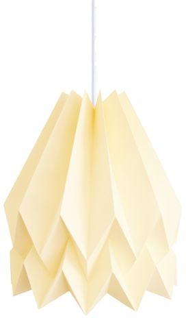 Lampa wisząca Plain Pale Yellow Orikomi żółta oprawa w dekoracyjnym stylu