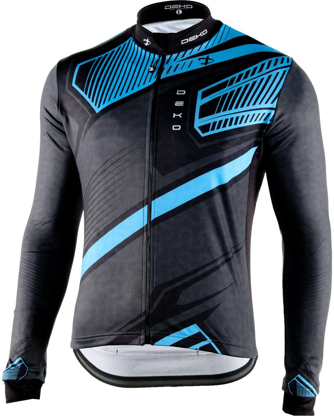 DEKO MNK-001-09 męska bluza rowerowa długi rękaw, niebieski Rozmiar: L,DEKO_style9_bluza_BLUE