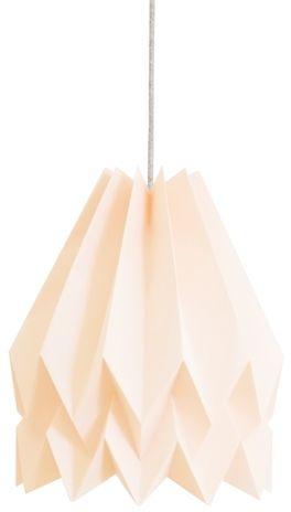Lampa wisząca Plain Pastel Pink Orikomi pastelowo różowa oprawa w dekoracyjnym stylu