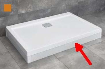 RADAWAY panel biały 150 cm do brodzika Argos D z obudową 001-510144004