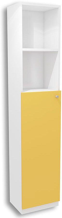 Biało-żółty regał dziecięcy Elif 10X - 5 kolorów