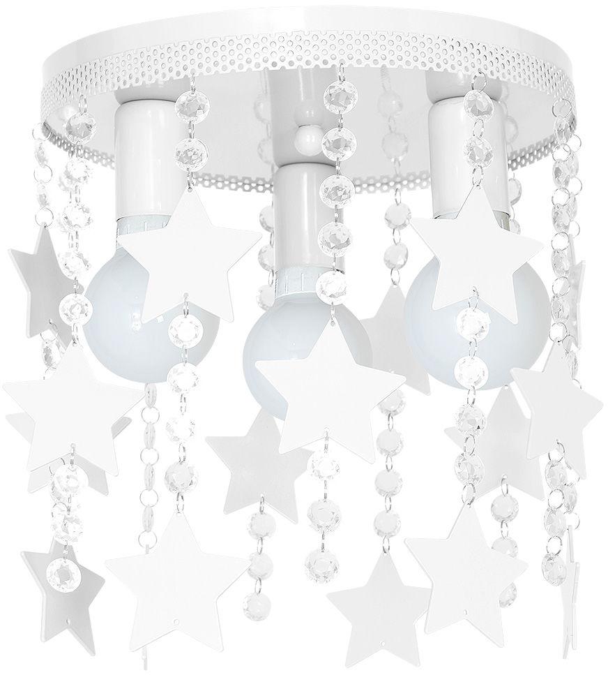 Milagro STAR MLP1127 plafon lampa sufitowa metal biały kryształki gwiazdki 3xE27 30cm
