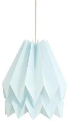 Lampa wisząca Plain Mint Blue Orikomi miętowo niebieska oprawa w dekoracyjnym stylu