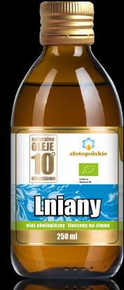Olej lniany tłoczony na zimno bio 250 ml - złoto polskie