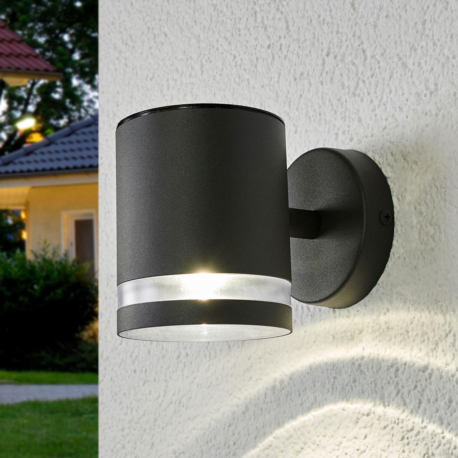 Szary solarny kinkiet zewnętrzny LED Melinda