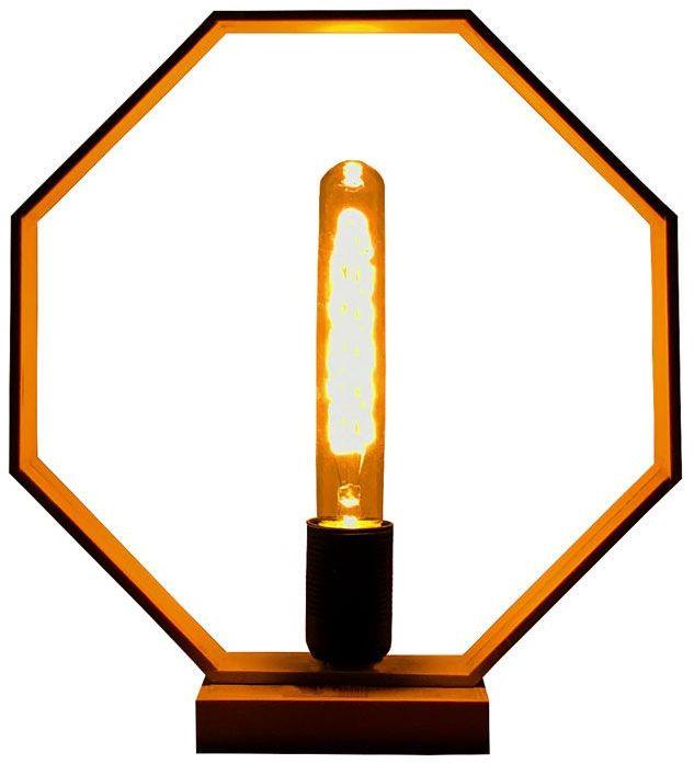 Drewniana lampka stołowa LED - EX379-Derpal