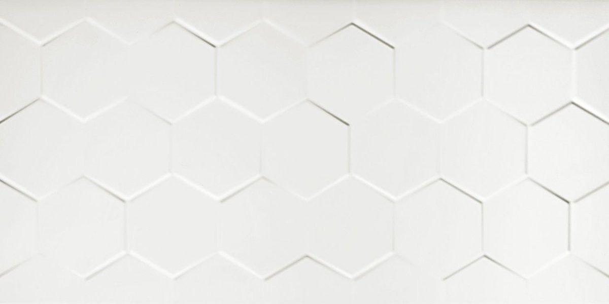 Netto - Płytka ścienna WALL WHITE HEXAGONE SHINY 30x60 cm WYSYŁKA 24H - OBEJRZYJ W POZNANIU !!
