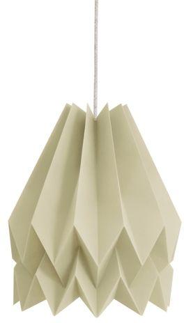 Lampa wisząca Plain Light Taupe Orikomi szaro-brązowa oprawa w dekoracyjnym stylu