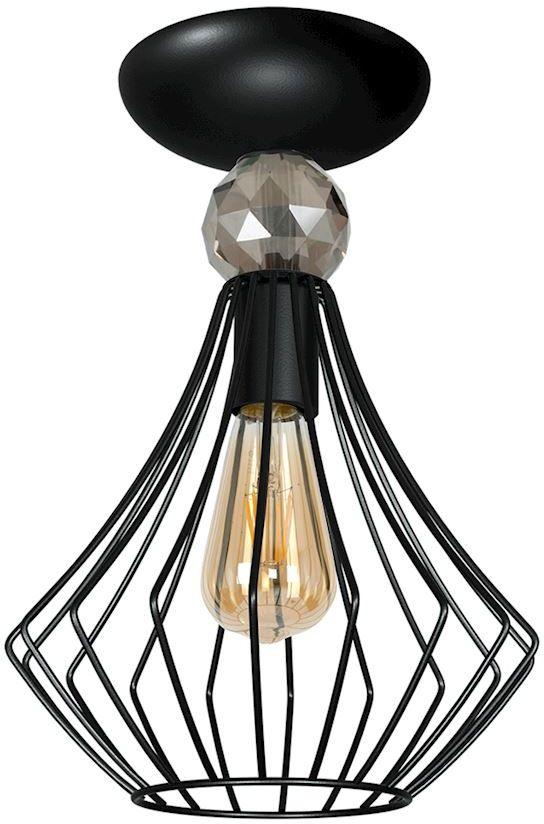 Milagro JEWEL BLACK MLP4207 plafon lampa sufitowa czarny metal styl industrialny 1xE27 32cm