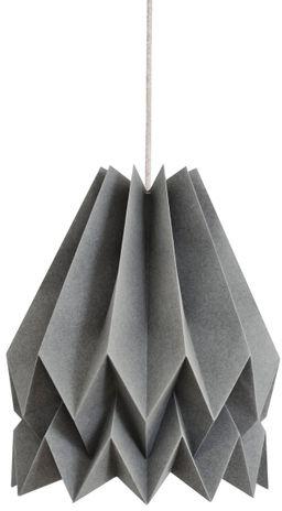 Lampa wisząca Plain Alpine Grey Orikomi szara oprawa w dekoracyjnym stylu