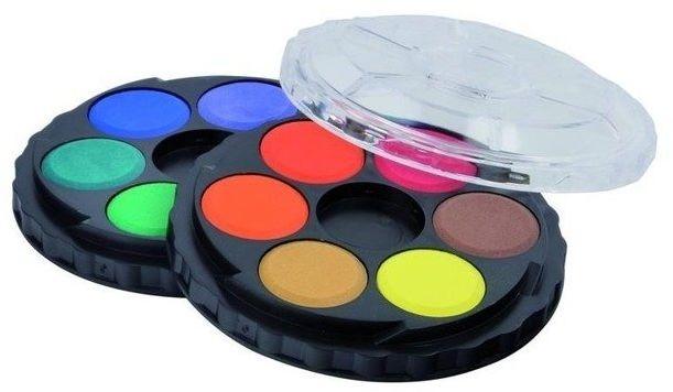 Farby akwarelowe 12 kolorów okrągłe
