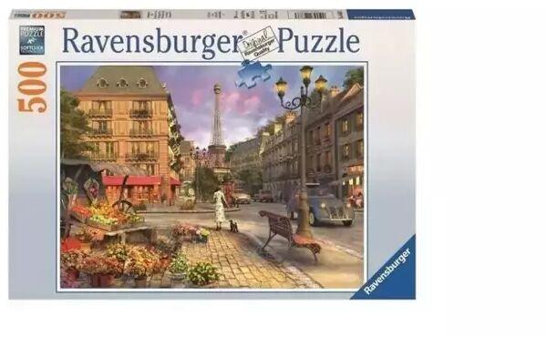 Puzzle 500 Wieczorny spacer po Paryżu