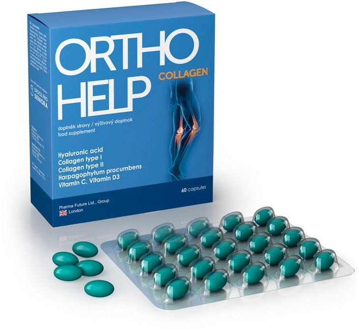 Tabletki kolagenowe 90 sztuk odbudowa stawów OrthoHelp Complete nowa formuła
