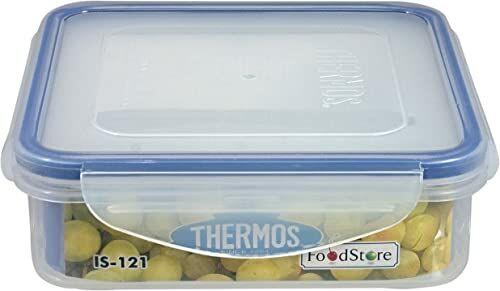 Thermos IS121 Air Tight pojemnik na zapasy kwadratowy 0,6 l przezroczysty