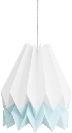 Lampa wisząca Stripe Polar White/Mint Blue Orikomi biało-niebieska oprawa w dekoracyjnym stylu