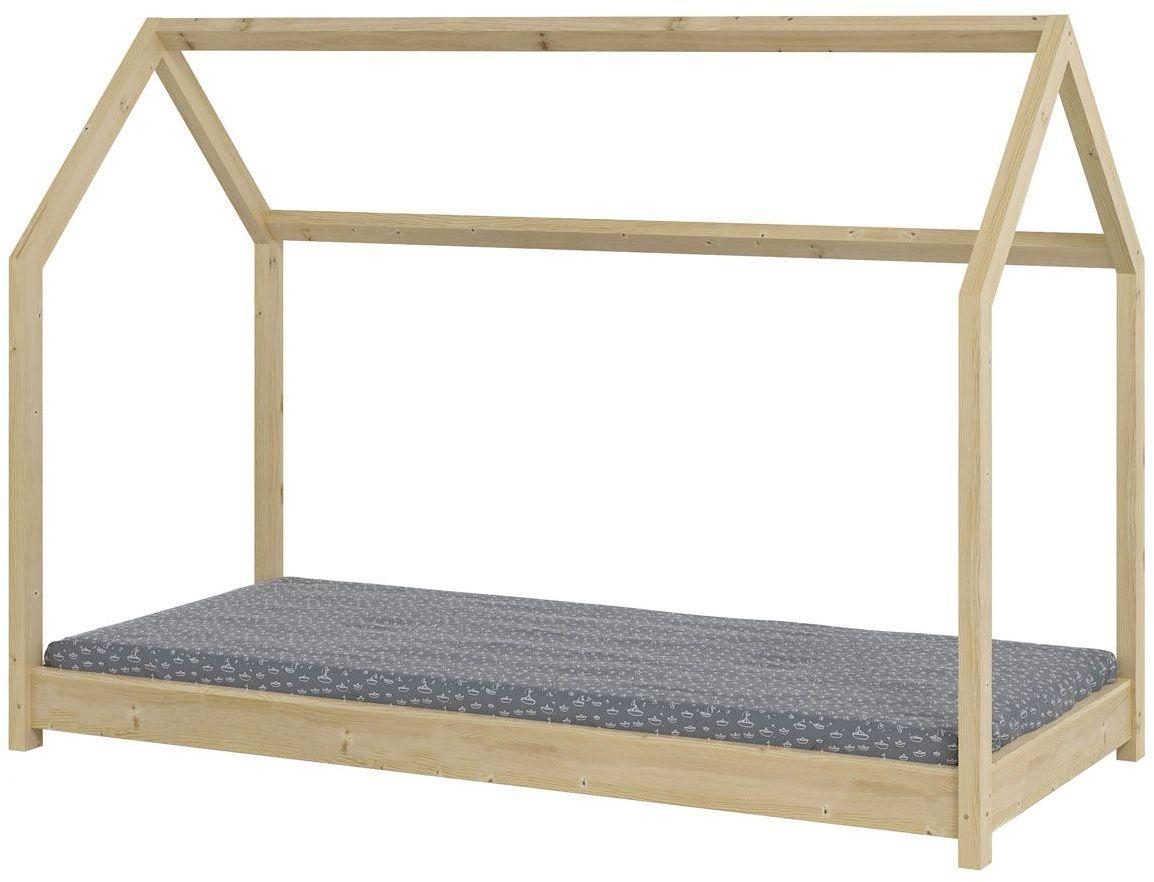 Łóżeczko domek Olaf 80x160 - sosna