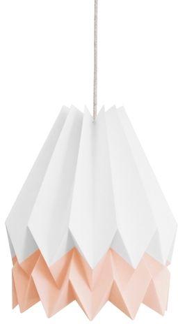 Lampa wisząca Stripe Polar White/Pastel Pink Orikomi biało-różowa oprawa w dekoracyjnym stylu