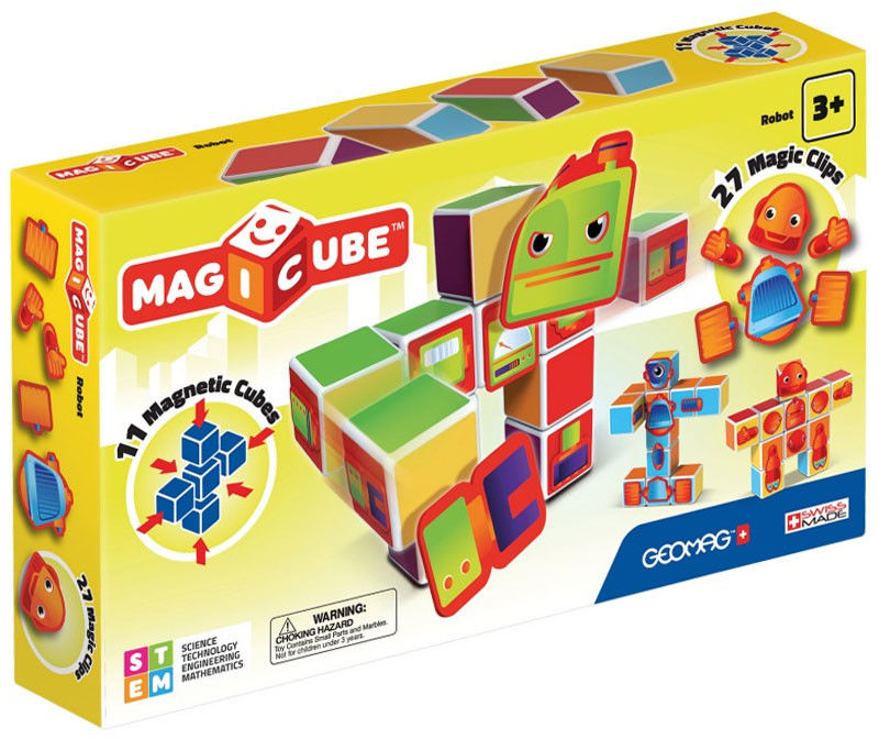 Geomag - Magicube Magiczne kostki Zestaw Roboty 142