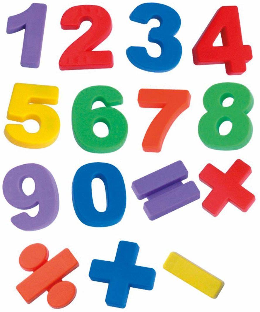 Miniland Miniland97923 Jumbo cyfry magnetyczne 68P, wielokolorowe