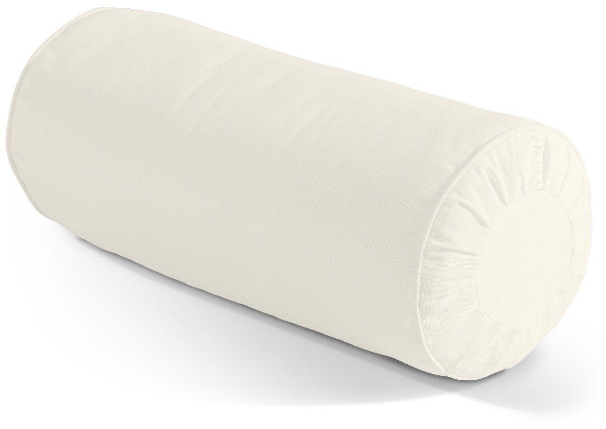 Poduszka wałek z zakładkami, kość słoniowa, Ø20  50 cm, Jupiter