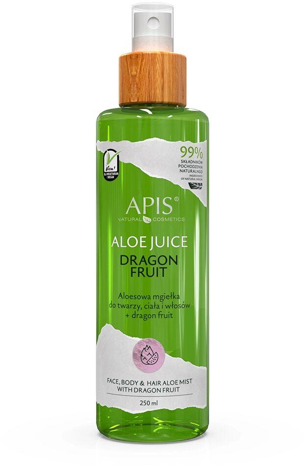 Aloesowa mgiełka do twarzy, ciała i włosów Apis Dragon Fruit 250 ml