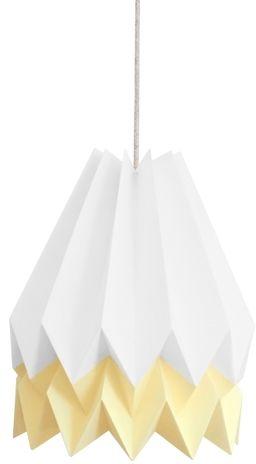 Lampa wisząca Stripe Polar White/Pale Yellow Orikomi biało-żółta oprawa w dekoracyjnym stylu
