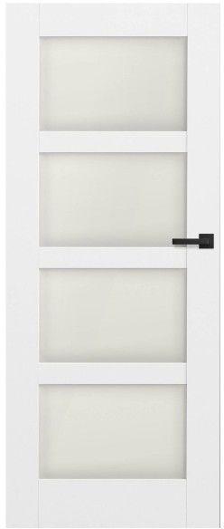 Drzwi bezprzylgowe pokojowe Connemara 80 lewe kredowo-białe
