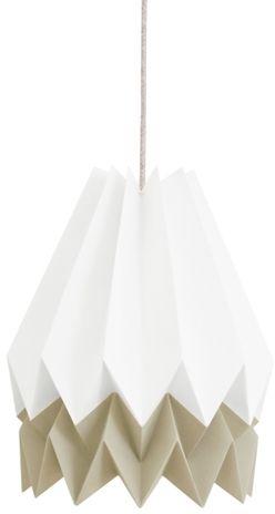 Lampa wisząca Stripe Polar White/Light Taupe Orikomi dwubarwna oprawa w dekoracyjnym stylu