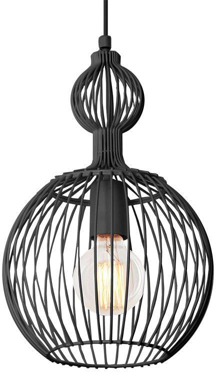 Lampex Tosya C 842/C lampa wisząca metalowa czarna E27 1xMAX60W 24cm